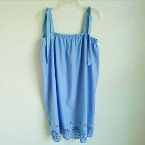 J. CREW | Tie Shoulder Dress with Embroidery Sz. M